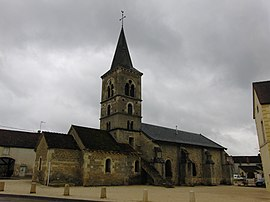 The church in Marmagne