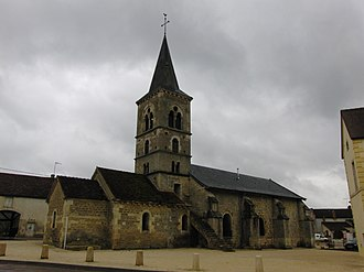 Marmagne, Côte-d'Or - The church in Marmagne