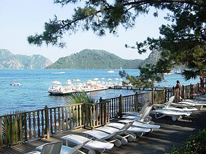 Geography of Turkey - Beaches of Marmaris on the Turkish Riviera.
