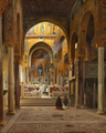 Martinus Rørbye - St. Roger's Kapel i Palermo (Cappella Palatina) - 1842.png