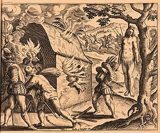 History of the Dominican Republic - In 1503 Queen Anacaona and hundreds of her people were massacred by Spanish governor Nicolás de Ovando in crushing their revolt.