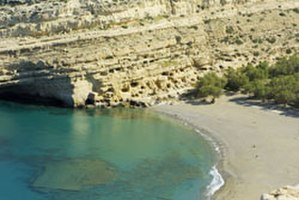 Matala, Crete - The caves of Matala.