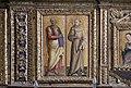 Matera, san francesco, interno, organo settecentesco con cantoria che ingloba pannelli di lazzaro bastiani, 05.jpg