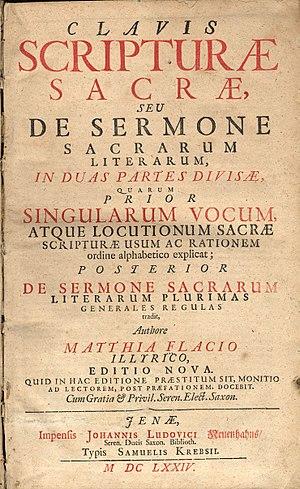 Matthias Flacius - Clavis scripturae sacrae, 2nd edition, 1674