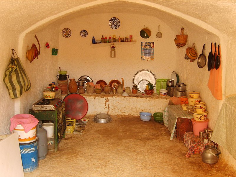 File:Matmata Berber kitchen.jpg