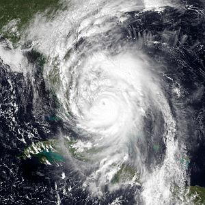 Hurricane Matthew - Hurricane Matthew nearing Florida on October 6
