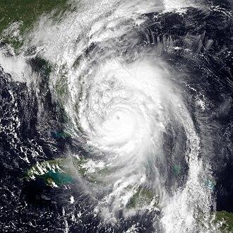 Hurricane Matthew - Hurricane Matthew nearing Florida on October 6