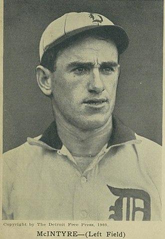 Matty McIntyre - McIntyre in 1908