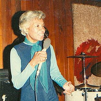 Maxine Sullivan - Sullivan at the Village Jazz Lounge in Walt Disney World, 1975
