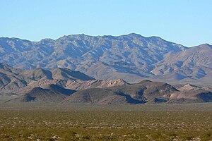 McCullough Range - Image: Mc Cullough Mountain from Eldorado Valley 2
