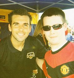 Me with Houston Dynamo defender Mike Chabala before the 2010 MLS All-Star Game