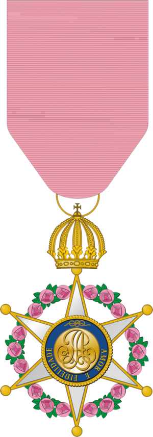 Order of the Rose - Condecoration of the Order of the Rose; Official degree.