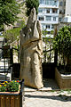 Medieval ashik statue in Old City, Baku.JPG