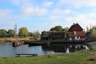 Guldborgsund - Image: Medieval town at Middelaldercentret
