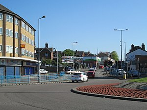Meir, Staffordshire - Image: Meir roundabout 1