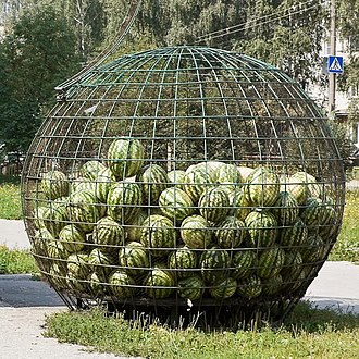 Cage - Cage containing watermelons in Russia