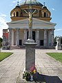 Memorial cross, Saint Anne church in Esztergom.jpg