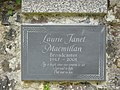 Memorial plaque to Laurie Macmillan (Radio Presenter) - geograph.org.uk - 913590.jpg