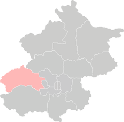 Location of Mentougou District in Beijing