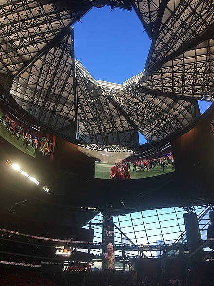 Mercedes-Benz Stadium roof in October 2018 Mercedes-Benz Stadium Roof Atlanta United 2018-10-21 - 17 14.jpg
