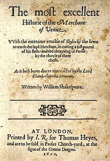 The Merchant Of Venice  Wikipedia The Merchant Of Venice
