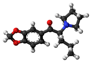 Methylenedioxypyrovalerone - Image: Methylenedioxypyrova lerone molecule ball