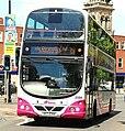 Metro (Belfast) bus 2354 (SEZ 2354) 2008 Volvo B9TL Wright Eclipse Gemini, 28 May 2009.jpg