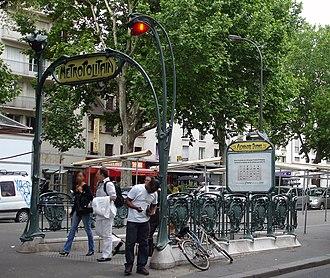 Alexandre Dumas (Paris Métro) - Image: Metro de Paris Ligne 2 Alexandre Dumas 01