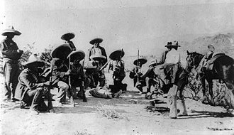 Battle of Ciudad Juárez (1911) - Revolutionary camp outside Ciudad Juárez in 1911.