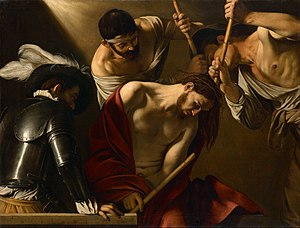 The Crowning with Thorns (Caravaggio) - Image: Michelangelo Merisi, called Caravaggio The Crowning with Thorns Google Art Project