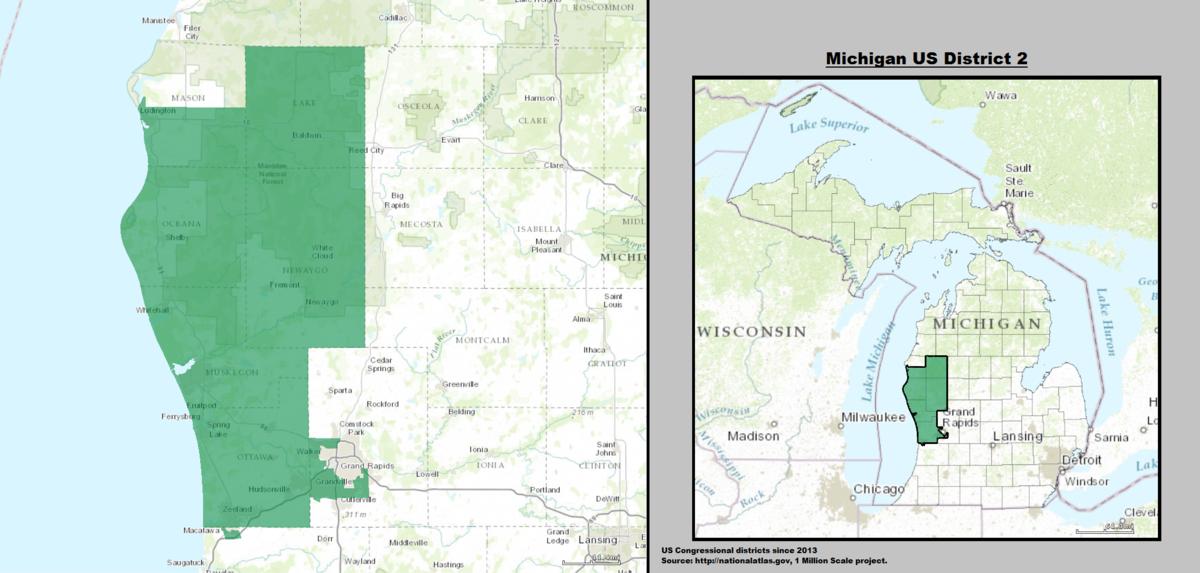 Michigan\'s 2nd congressional district - Wikipedia