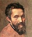 Miguel Ángel, por Daniele da Volterra (detalle) Brighter version.jpg