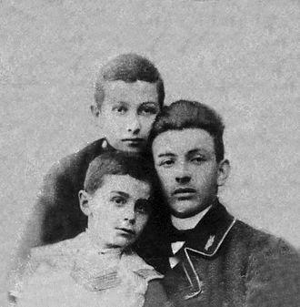 Mikheil Javakhishvili - Mikheil Javakhishvili and his brother Pridon