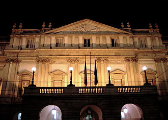 La Scala - The Teatro alla Scala in Milan, by night