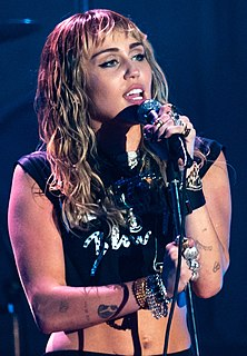 Miley Cyrus American singer, songwriter, and actress