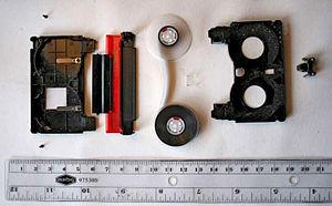 DV - A disassembled MiniDV cassette