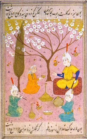 Timeline of Tabriz - A miniature depicted of 2nd Shah of the Safavid dynasty Tahmasp I in Tabriz.