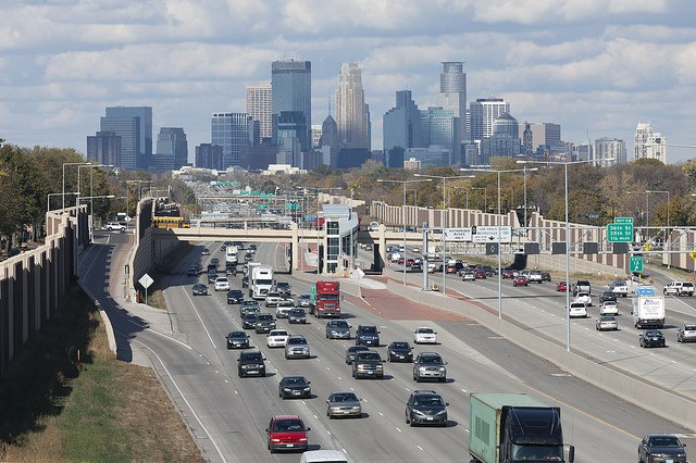 Minneapolis Highway View - Highway 35