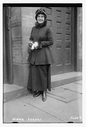 Minnie Egener - Minnie Egener at the Metropolitan Opera in 1915
