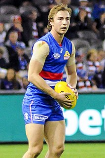 Mitch Honeychurch Australian rules footballer for Western Bulldogs Football Club in the Australian Football League