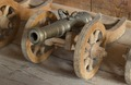Modell av hjullavett med tillhörande kanonmodell, 1600-tal - Skoklosters slott - 108874.tif
