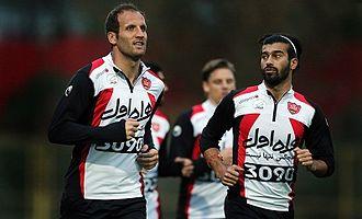 Mohsen Bengar - Mohsen Bengar and Ramin Rezaeian in Persepolis training
