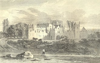 Tallaght Castle - View of the Antient Archiepiscopal Palace, Tallaght. 1873