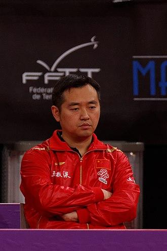 Kong Linghui - Image: Mondial Ping Women's Singles Quarterfinal Melek Hu Liu Shiwen 03