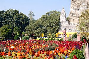 Tibetan Buddhists celebrate Monlam in Bodhgaya...