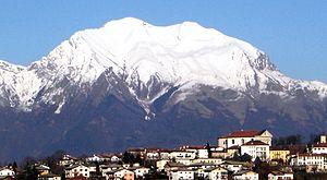 Mel, Veneto - Mel and surrounding mountains