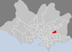 Location of Flor de Maroñas in Montevideo