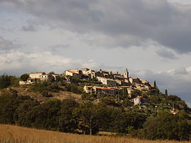 A general view of the village of Montfort