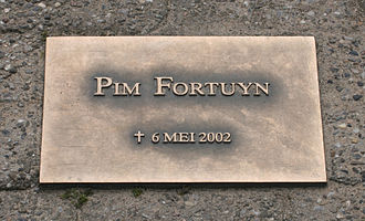 Assassination of Pim Fortuyn - Commemorative plaque at the car park where Fortuyn was assassinated