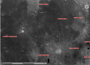 Luna 2 - Luna 2 site is near the right of the image, close to the Apollo 15 landing site